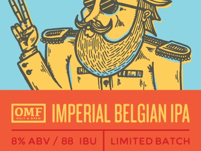 Imperial IPA beer our mutual friend label illustration peace belgian ipa denver brewery
