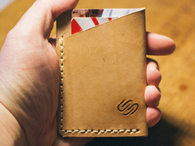 SS Card Wallet squarespace commerce wallet leather analog hand made money stacks on deck