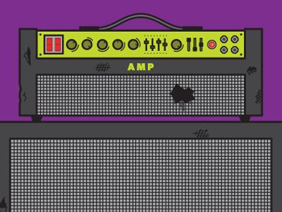 Crank It amp illustration installation battle damage knobs buttons fluorescent music instrument