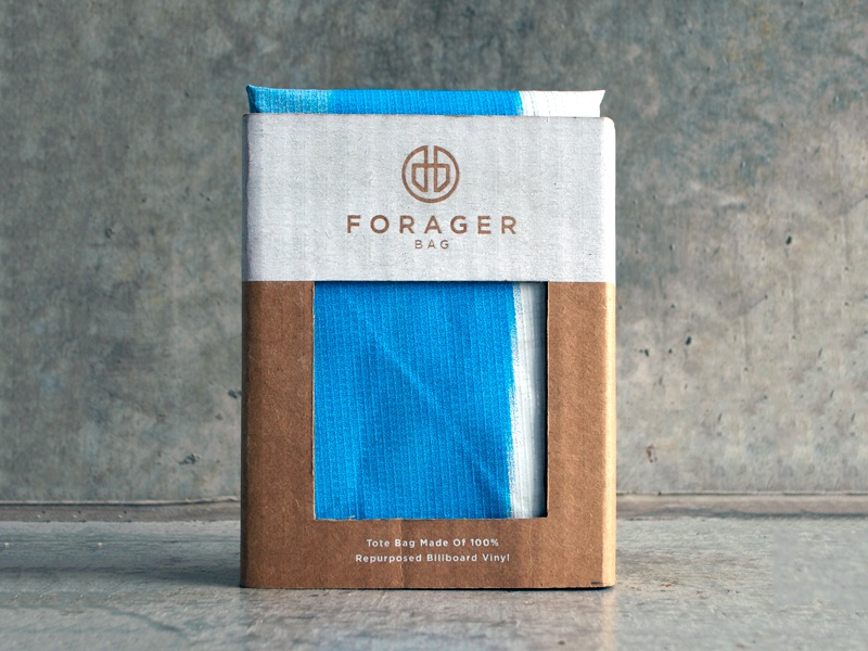 Forager Bag Packaging packaging sustainable bag product design silkscreen package eco friendly billboard logo design