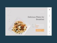 Restaurant - Food delivery website webdesign ui web ux typography header figma design branding