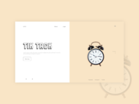 ticktack xd design xd branding web design website webdesign ux ui