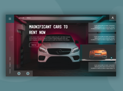 Car rental website xd websites web design ui  ux website webdesign design web ux ui