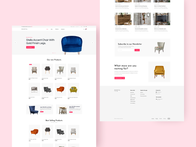 E-commerce Shopify Theme Design furniture furniture website ecommerce design ecommerce ui design webdesign modern web design