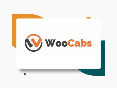 Woo cabs logo design