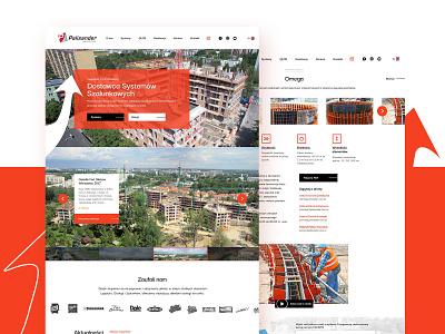 Palisander website orange wiwi construction ui ux website palisander