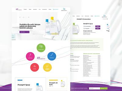 Higiena dent website design light webdesign wiwi ecommerce shop medical dental ux ui