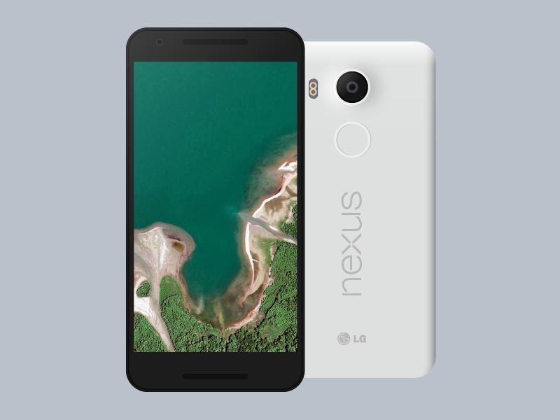 Nexus 5X (.AI Freebie) lg phone freebie nexus 5x android lollipop android marshmallow material design google google design illustrator