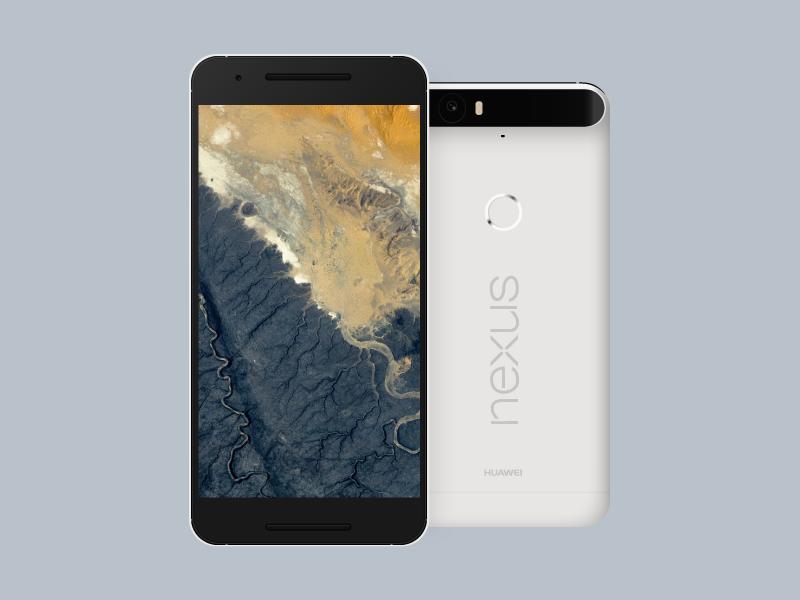 Nexus 6P (.AI Freebie) freebie phone nexus 6p huawei android lollipop android marshmallow material design google google design illustrator