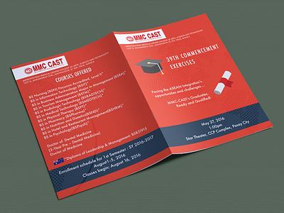 Invitation for Graduation college mmc-cast graduation. invitation brochure