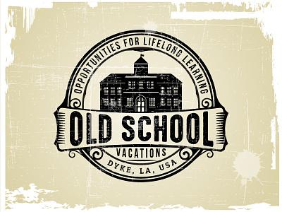 OLD SCHOOL LOGO grunge old school old logo vector old logo badge illustration logo design hipster classic retro vintage