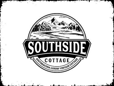 Vintage Cottage logo hipster cottage badge old logo illustration logo design classic retro vintage