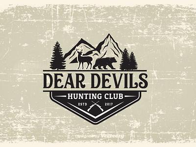 Hunting vector black classic hipster illustration logo badge logo design retro vintage