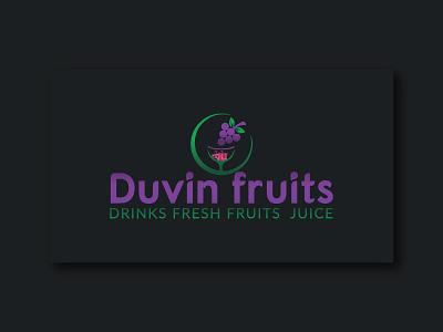 Duvin Fruits logo drinkslogo drinkslogo fruits classic illustration design branding logo logo design