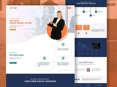 Banking Investment Website consulting design graphic design branding
