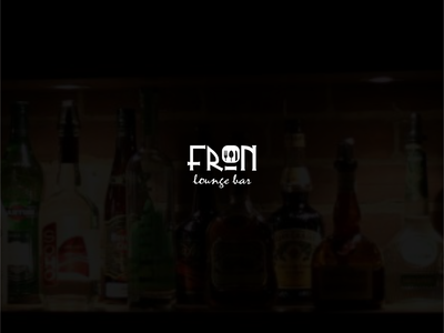 Fron longue bar design logo throne bar lounge