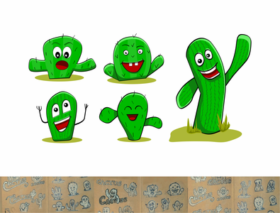 Cactus Character Illustration