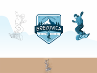 Snowboard mountain badge Brezovice, Snowboard jump