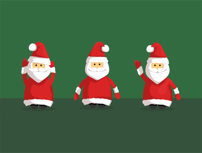 Christmas Santa Claus Character Set