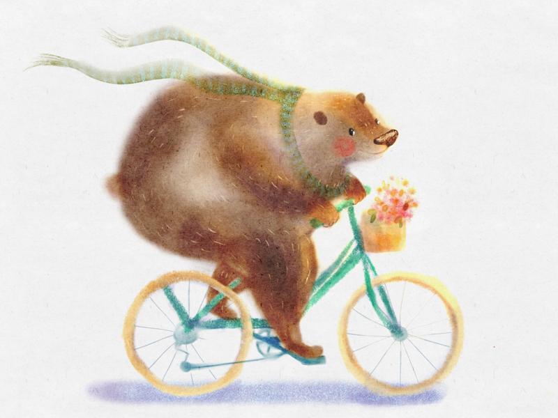 Best bike ride character design book illustration childrens book illustration artwork procreate drawing illustration