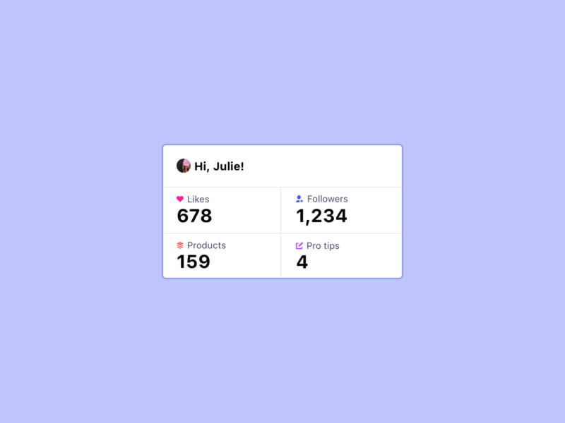 Personal Stats — YourStack icon sketch ui website typography