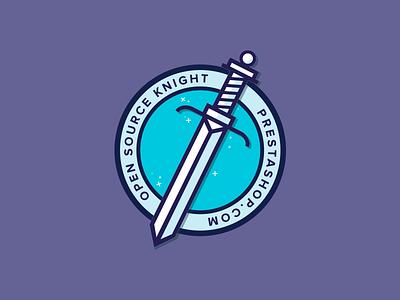 Open Source Knight II blue prestashop sticker vector stars sword illustration