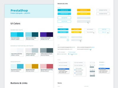 Style Guide — Product guidelines retinaplayers elements interface form button palette color design ui style guide guidelines