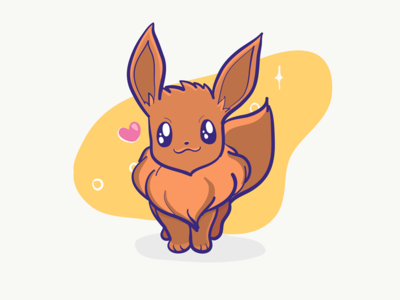 Eevee 💕 drawing sketch eevee pokemon adobe draw pencil ipad illustration