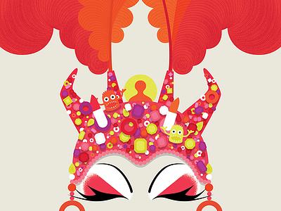 Priscilla / Mitzi finger puppets drag queens lipstick sequins jewels makeup ostrich feathers faces illustration