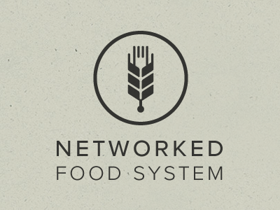 networked food system logo illustration food technology network