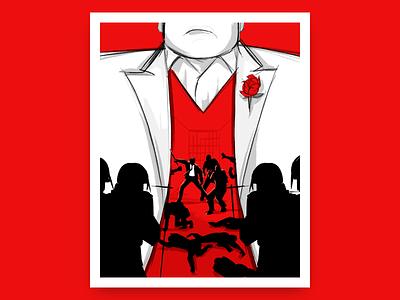 Daredevil S3 fan art drawing procreate ipadpro poster illustration kingpin daredevil marvel