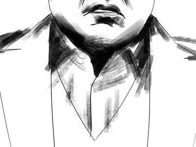 Kingpin WIP kingpin daredevil marvel sketch drawing illustration fan art