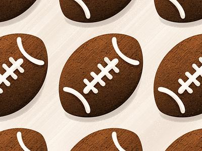 Football cookies football icing food baking cookies illustration