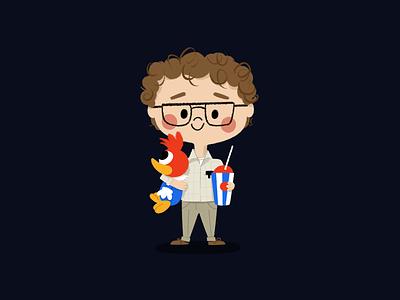 Alexei aka Smirnoff procreate smirnoff woodpecker slurpee character design illustration stranger things