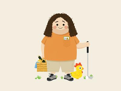 Hurley lottery picnic chicken golf hugo reyes hurley lost character design character illustration