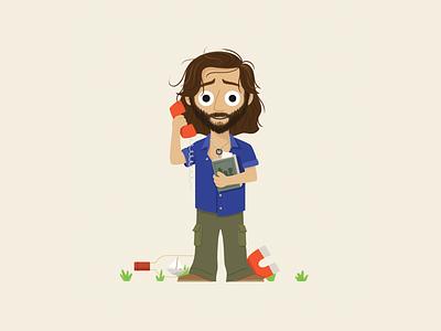 Desmond character design ship phone magnet book desmond lost character illustration