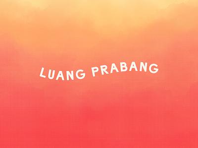 Luang Prabang customtype sunset river wave raleigh laos branding logotype logo