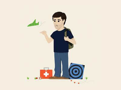 Jack Shephard first aid kite jack shephard illustration character design character
