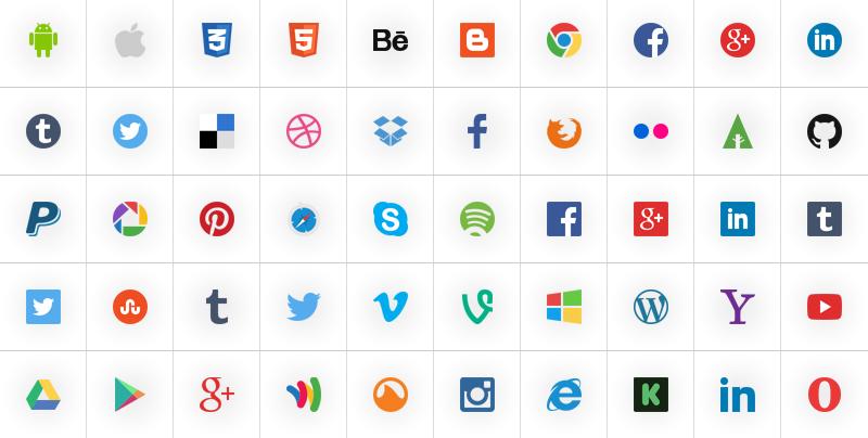 Social icons 32px