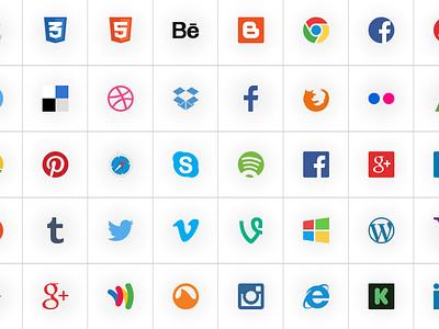 Social Icons Free-Psd social social-icos