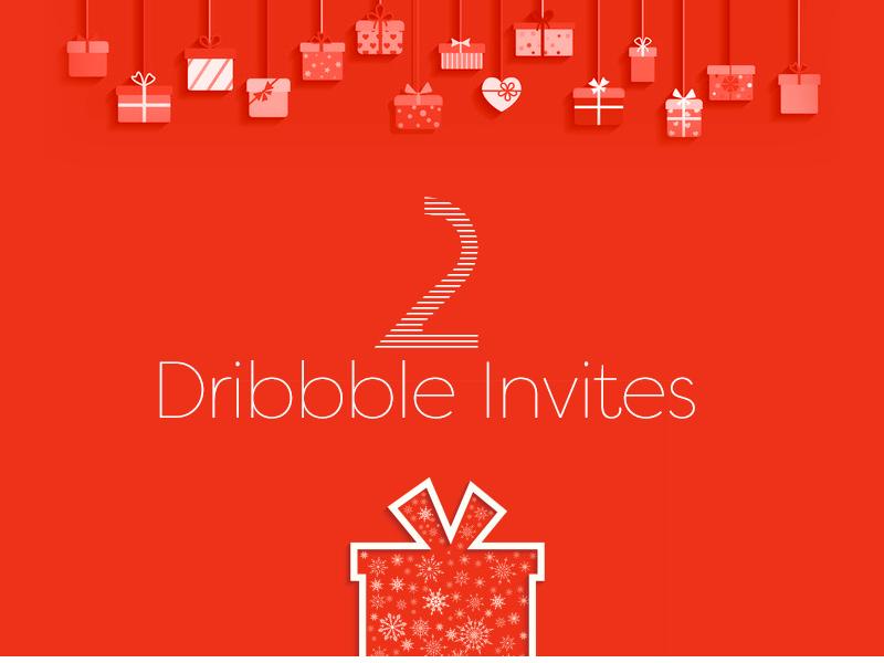 2 Dribble Invites dribbble invite invites invitations