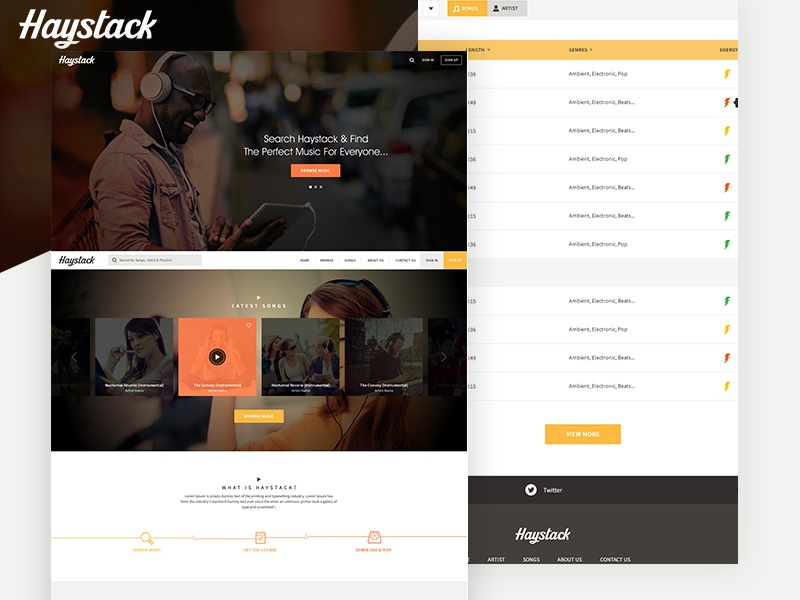 Haystack layout music