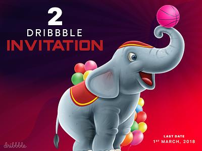 2 Dribbble Invitation invites invitation