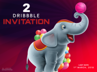 2 Dribbble Invitation