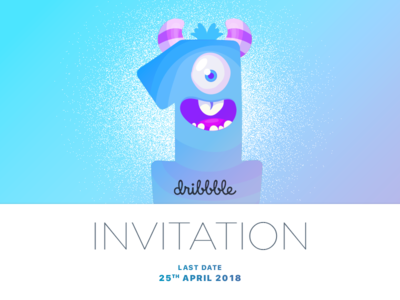 Dribbble Invitation dribbble invitation invitation