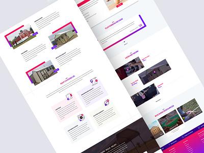Carports Landing Page design homepage landing page