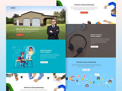 Landing Page website concept layoutdesign landingpage webpage design