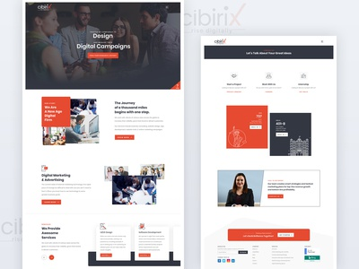 Homepage & Contact Page