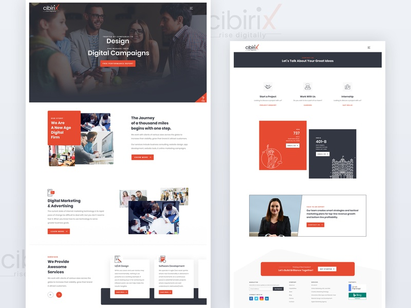 Homepage & Contact Page landingpage layoutdesign design contact us homepage design landing page
