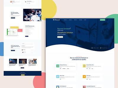 Landingpage iconography flatdesign minimalist website design landingpage webpage